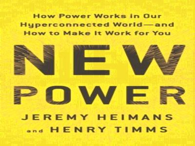 Special Event with EDGE:  Jeremy Heimans, author, New Power