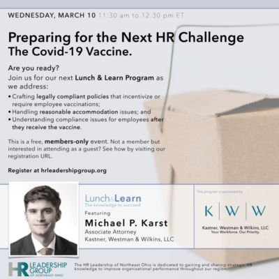 Preparing for the Next HR Challenge: The Covid-19 Vaccine