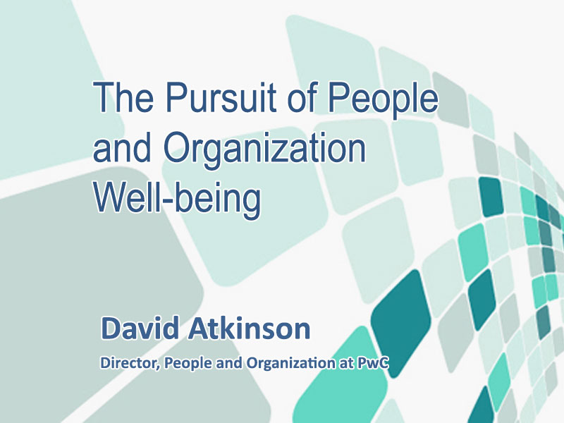 The Pursuit of People and Organization Well-being